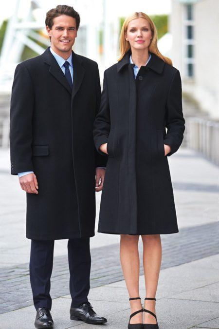 kabáty dámské a pánské černé