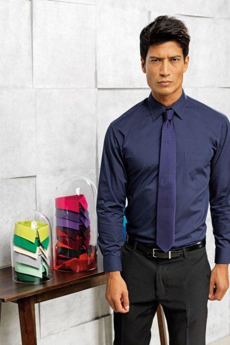 košile pánská, dámská modrá