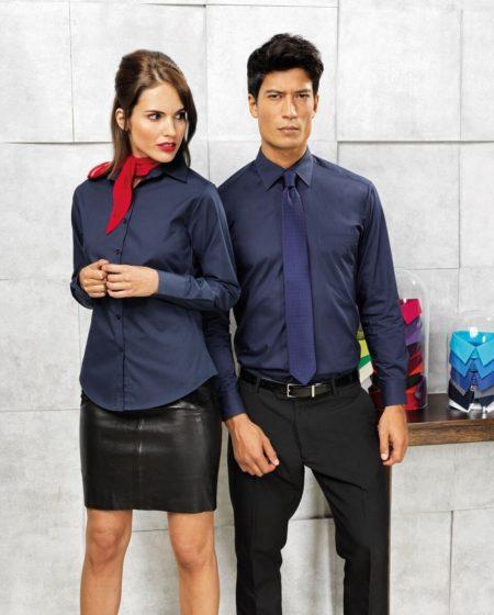 košile pánská, dámská, tmavě modrá