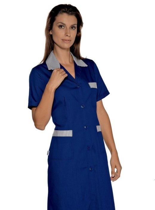 pracovní šaty modré