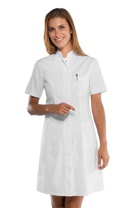 pracovní šaty bílé