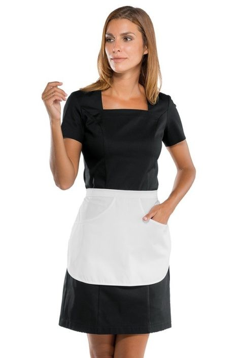 šaty pokojská černé, zástěrka pokojská bílá