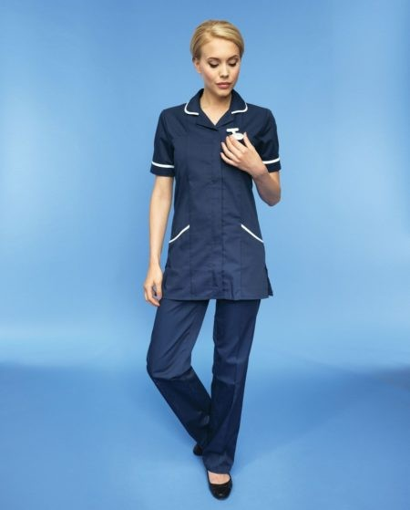 zdravotnická pracovní halena modrá