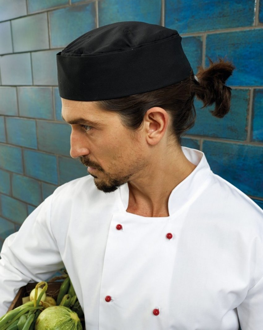 kuchařské rondony bílé, kuchařské čepice