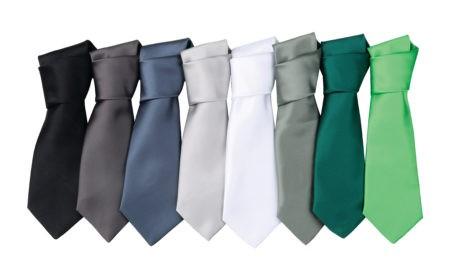 firemní kravaty černé, šedé, zelené