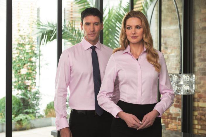košile, pánská, dámská, růžová