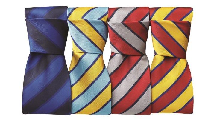 kravaty pestré s pruhy