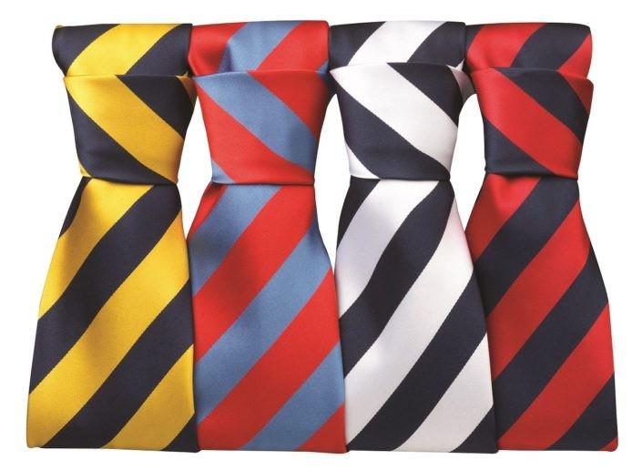 kravaty s barevnými pruhy