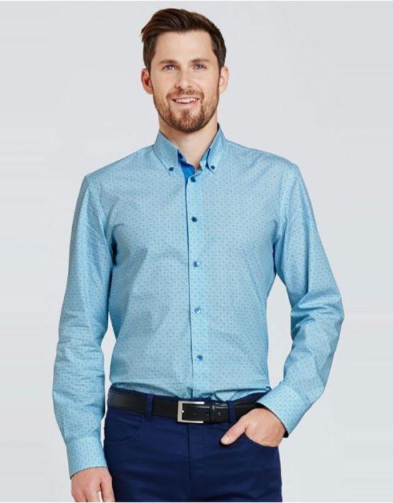 košile pánské, tyrkysové