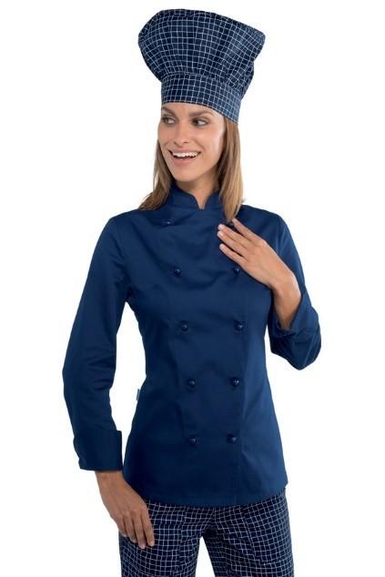kuchařský rondon dámský modrý