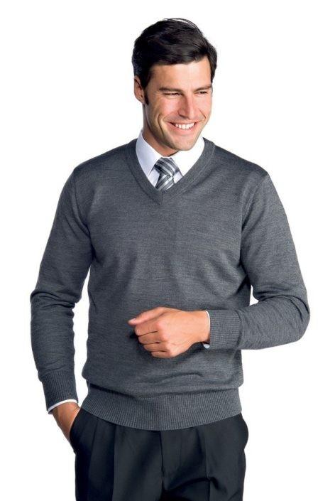 svetr pánský šedý