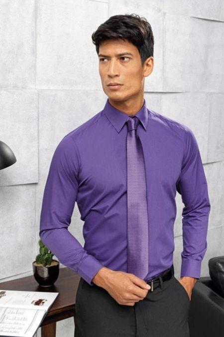 pánská košile fialová