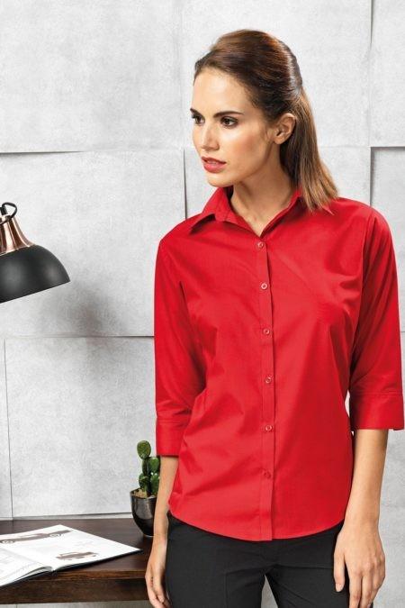 pracovní košile dámské červené