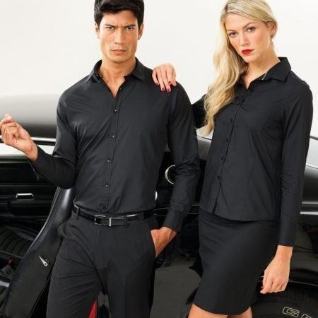 pánské a dámské košile černé