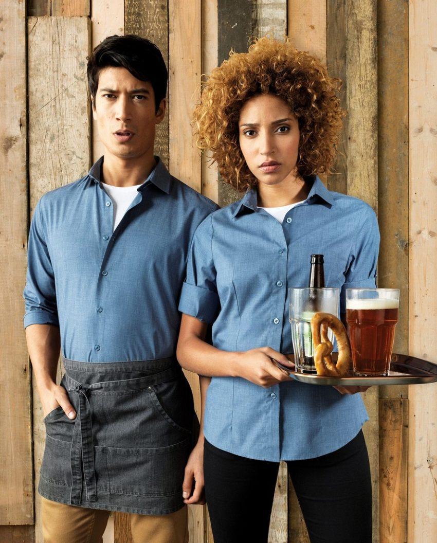pracovní košile dámské a pánské modré