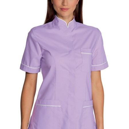 pracovní tunika se stojáčkem, lila, zdravotnická