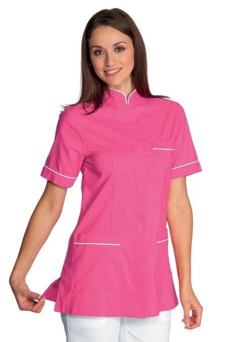 pracovní tunika se stojáčkem, růžová, zdravotnická