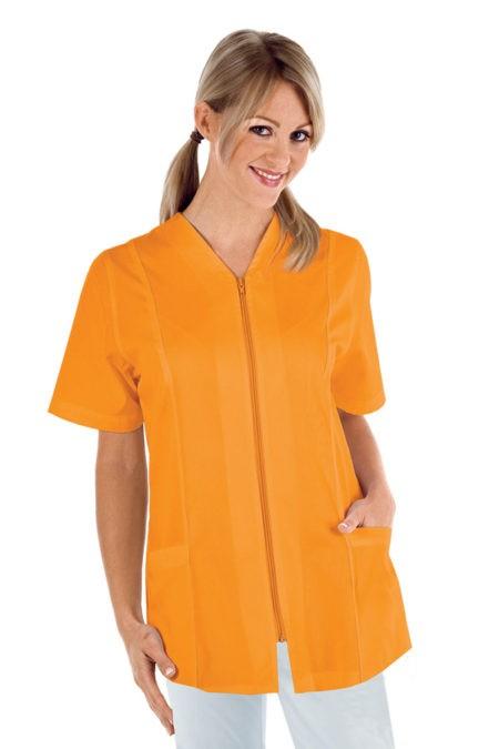 Tunika propínací na zip, oranžová