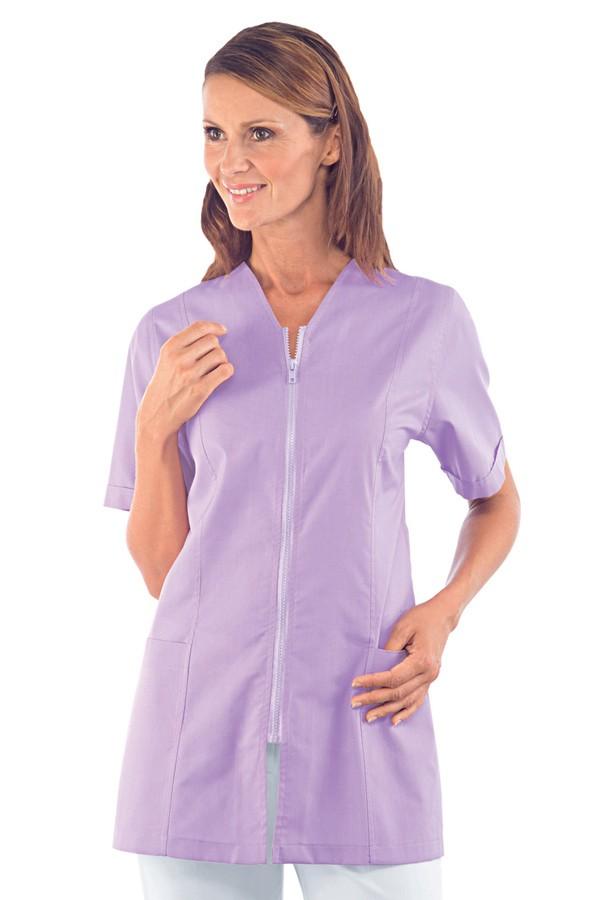 Tunika propínací na zip, světle fialová