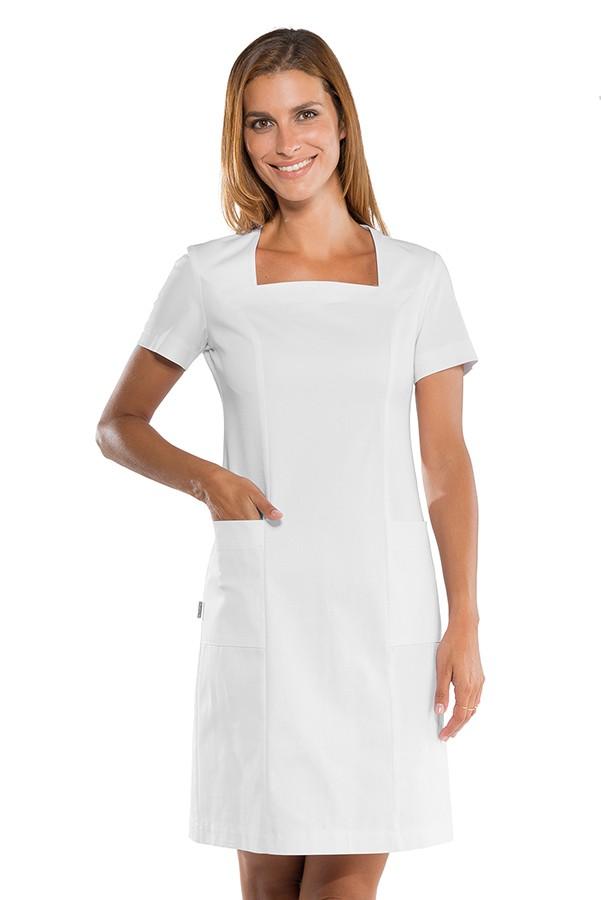 pracovní šaty zdravotnické bílé