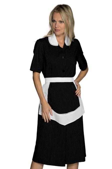šaty pokojská, černé, s bílou zástěrkou a krajkou