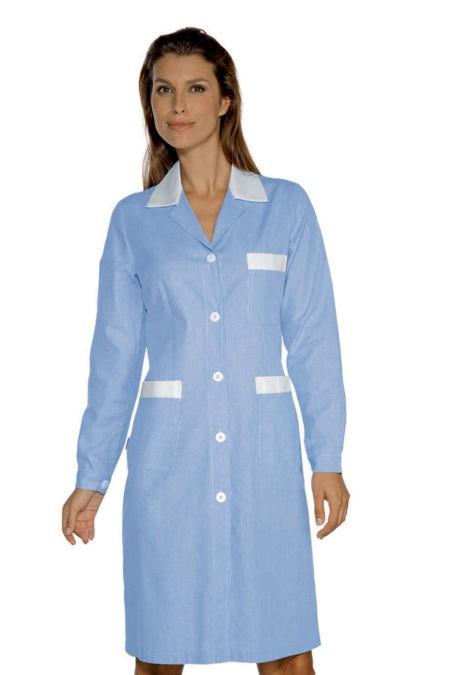 šaty pracovní, modrý proužek