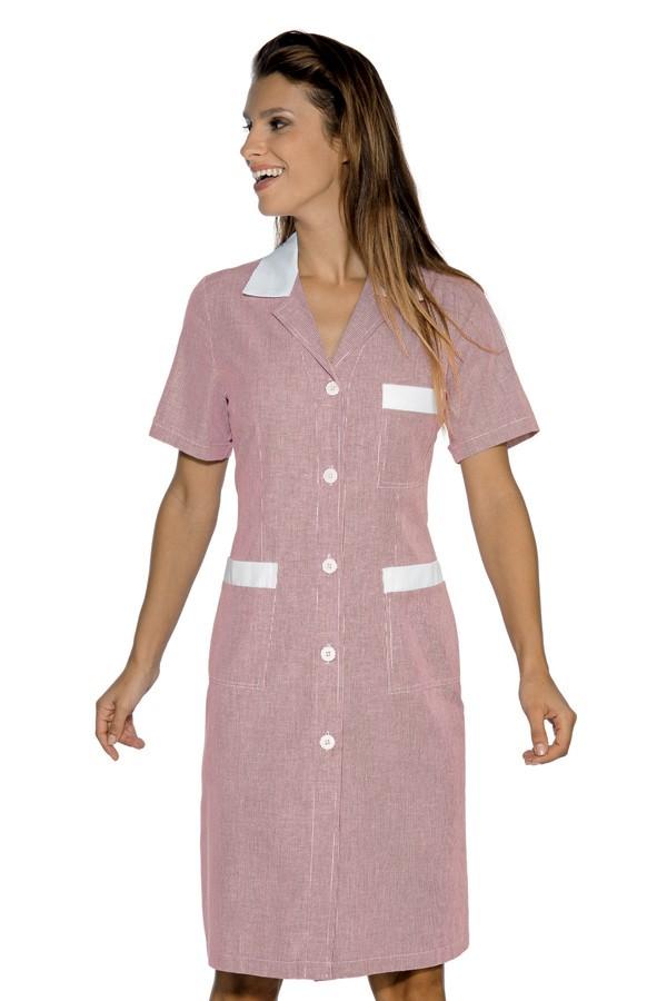 šaty pracovní, červený proužek, zdravotnictví