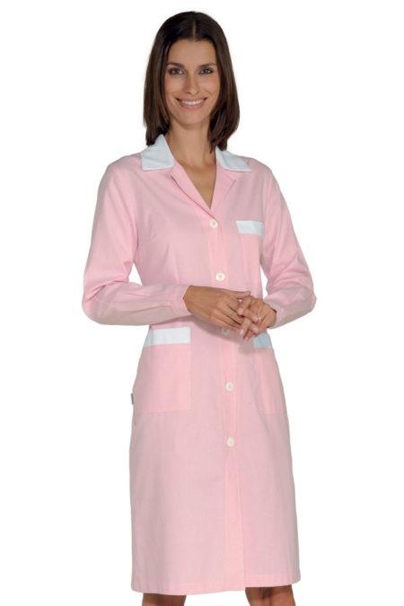šaty pracovní, růžové, zdravotnictví