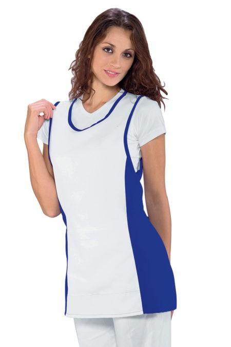 Zástěra modrá, bílá, zdravotnictví, salon, SPA