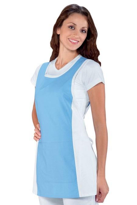 Zástěra bílá, modrá, zdravotnická, salon, SPA