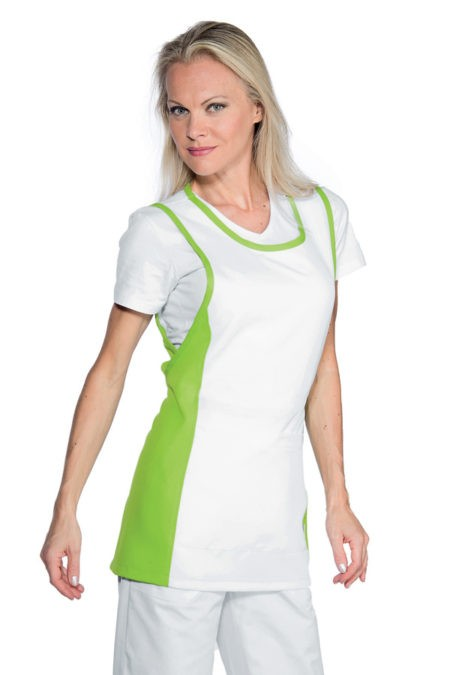 Zástěra bílá, zelená, zdravotnictví, salon, SPA