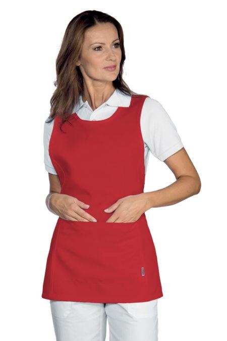 Pracovní zástěra červená, zdravotnictví, salon, SPA