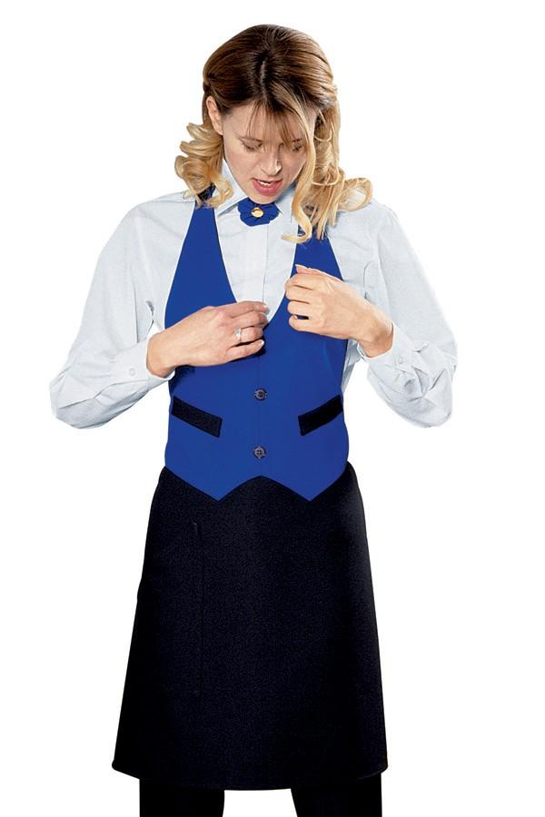 pracovní zástěra restaurace, černá, modrá