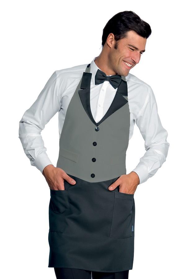 zástěry pro restaurace, šedé