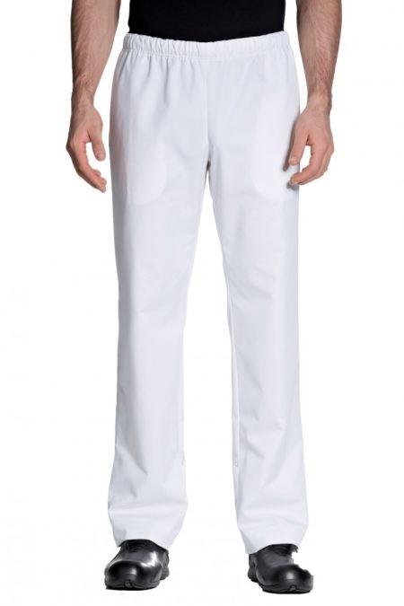 pracovní kalhoty unisex bílé