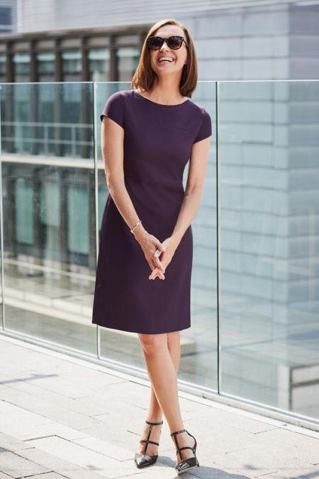 šaty dámské fialové