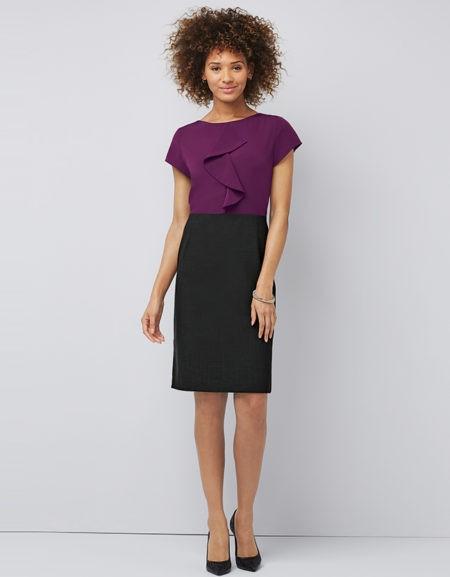 šaty dámské fialové, černé