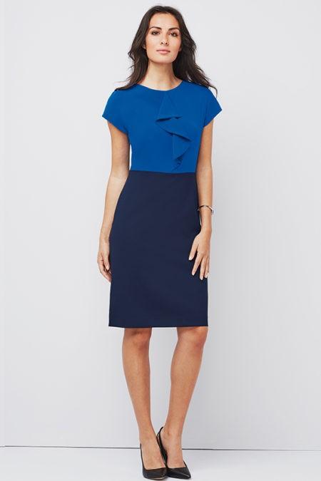 šaty dámské modré, černé