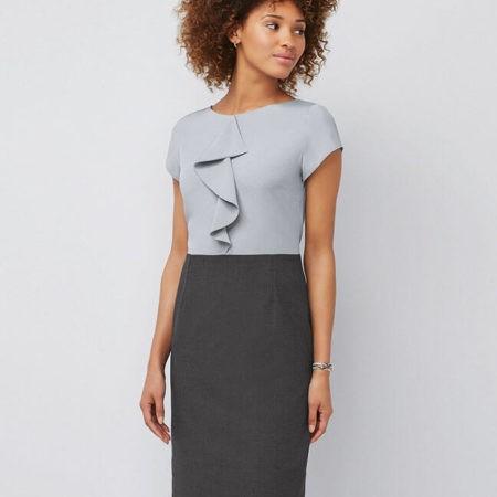 šaty dámské šedé, černé