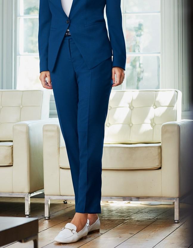 kalhoty dámské modré