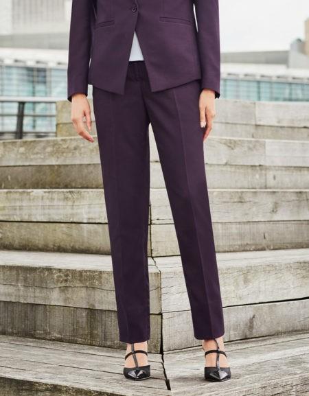 kalhoty dámské fialové