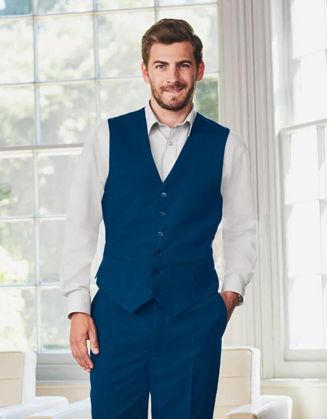 vesta pánská modrá