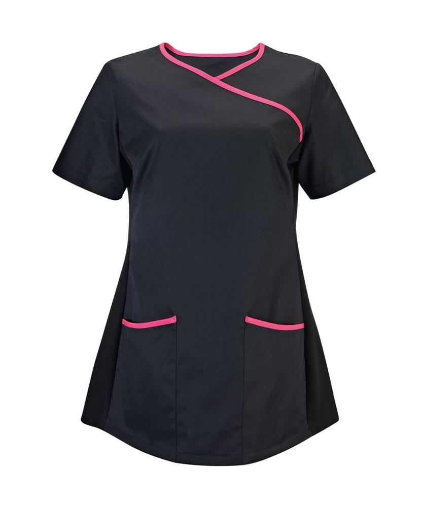 Tunika dámská černá / růžová