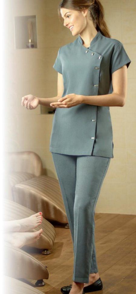 tuniky a kalhoty pracovní salony, SPA