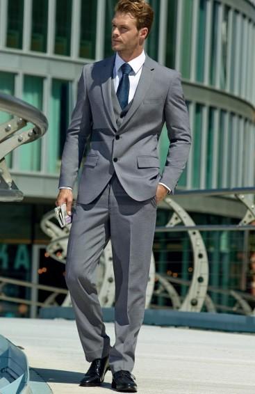 oblek pánský šedý