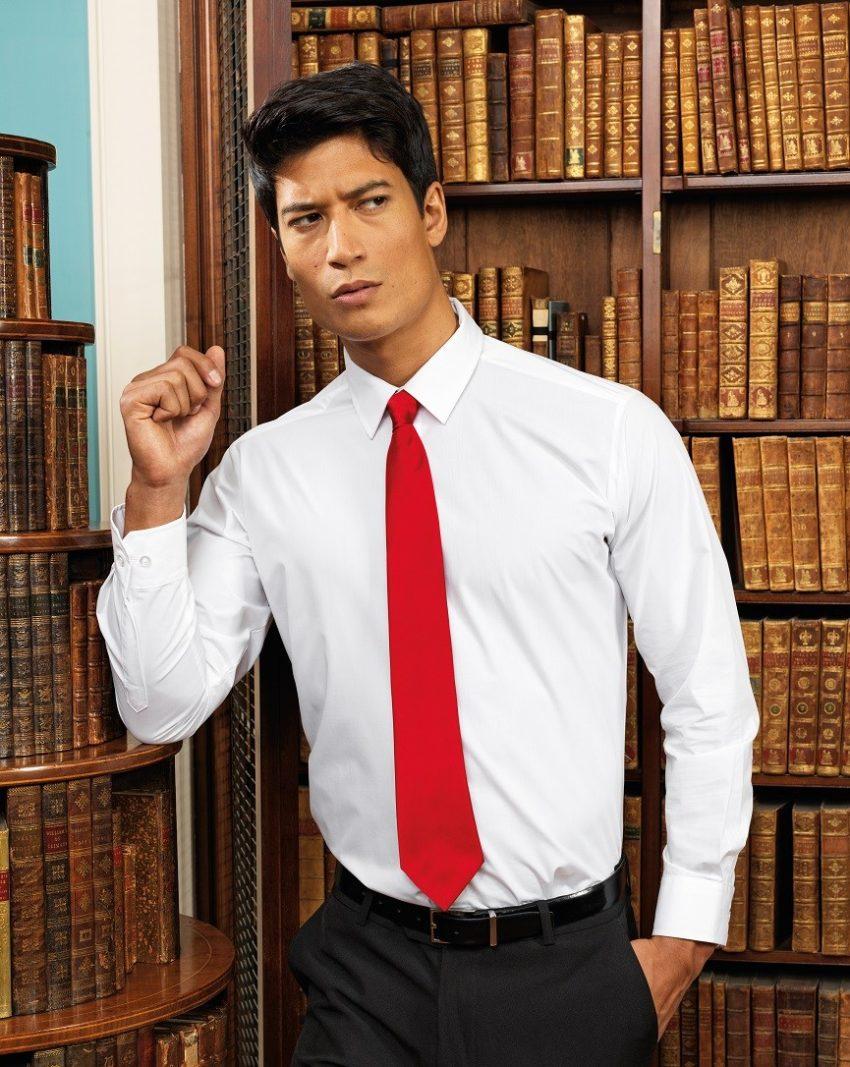firemní kravata červená