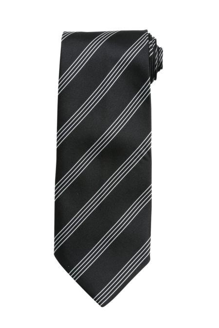 kravata černá s proužkem