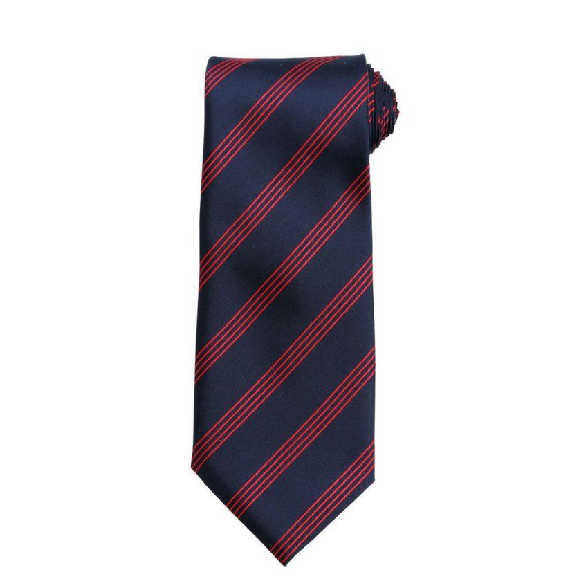kravata modrá s proužkem