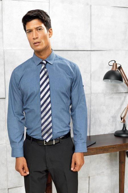 Kravata pruhovaná modrá