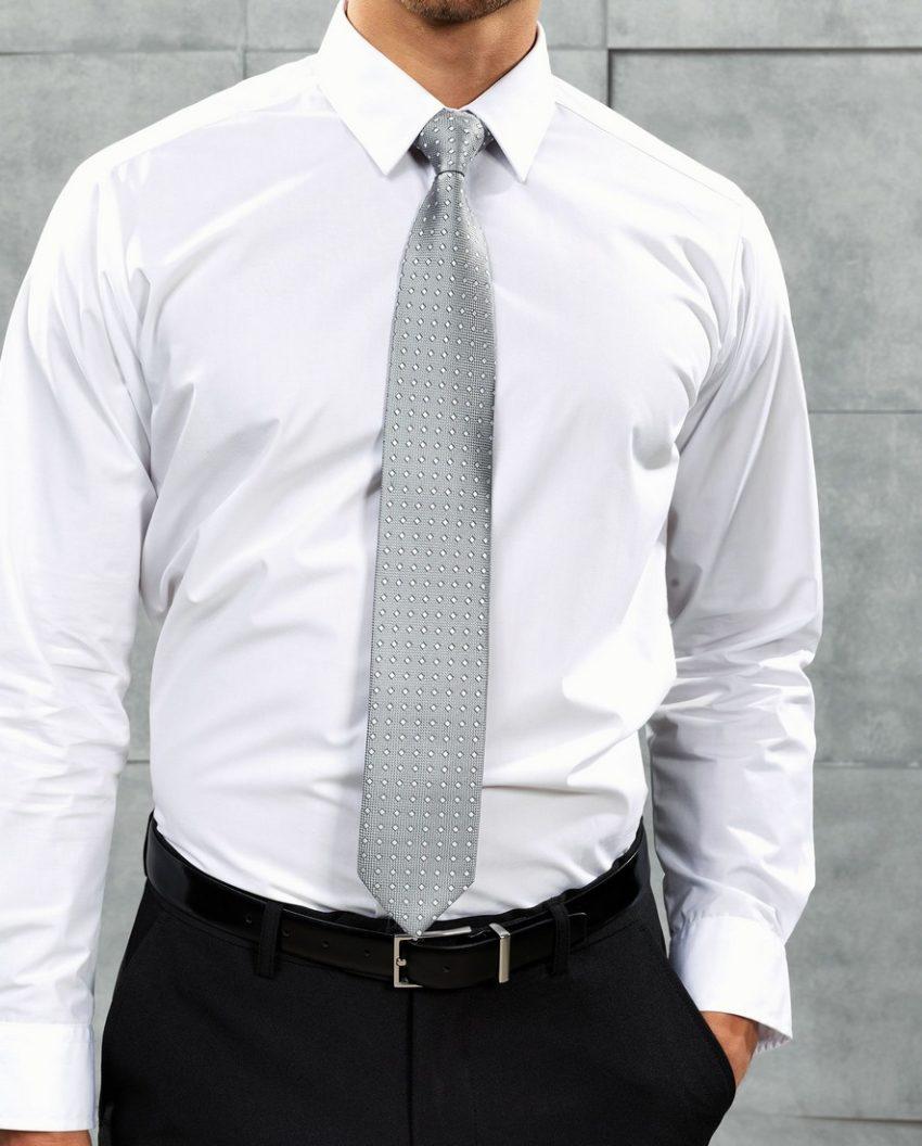 Kravata šedá
